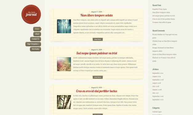 WordPress Šablona DailyJournal