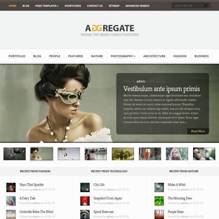 WordPress Šablona Aggregate
