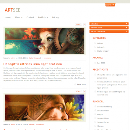 WordPress Šablona ArtSee