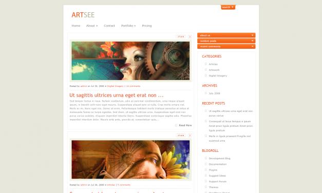 WordPress Šablona ArtSee
