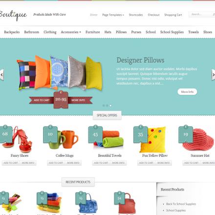 WordPress Šablona Boutique