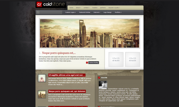 WordPress Šablona ColdStone