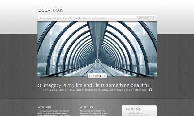 WordPress Šablona DeepFocus