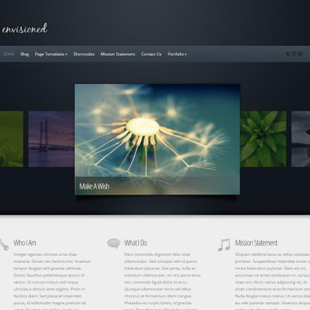 WordPress Šablona Envisioned