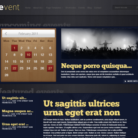 WordPress Šablona Event