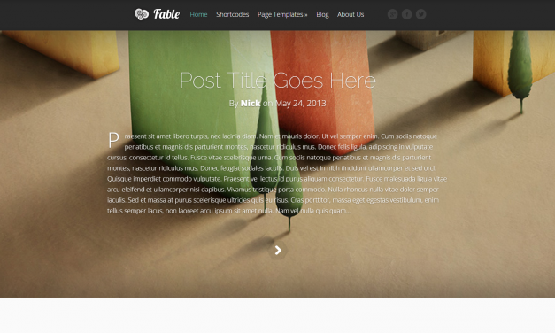 WordPress Šablona Fable
