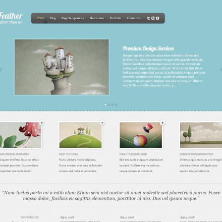 WordPress Šablona Feather