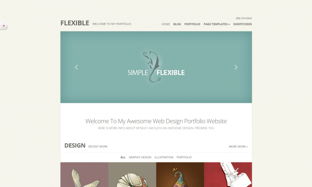 WordPress Šablona Flexible