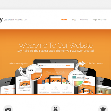 WordPress Šablona Foxy