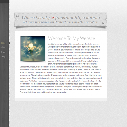 WordPress Šablona Glider