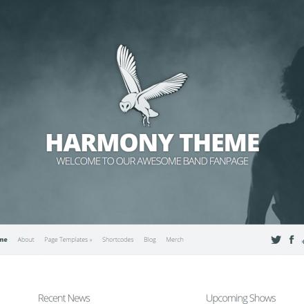WordPress Šablona Harmony