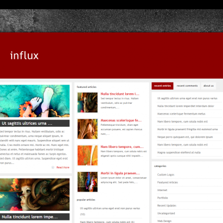 WordPress Šablona Influx