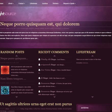 WordPress Šablona LightSource