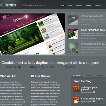 WordPress Šablona Lumin