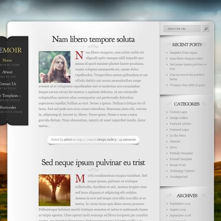 WordPress Šablona Memoir