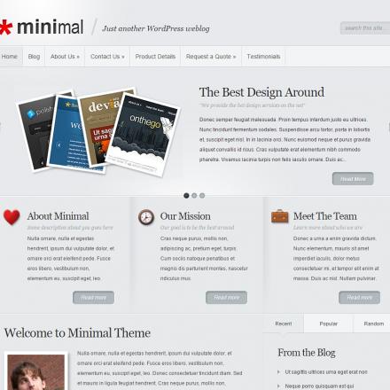WordPress Šablona Minimal