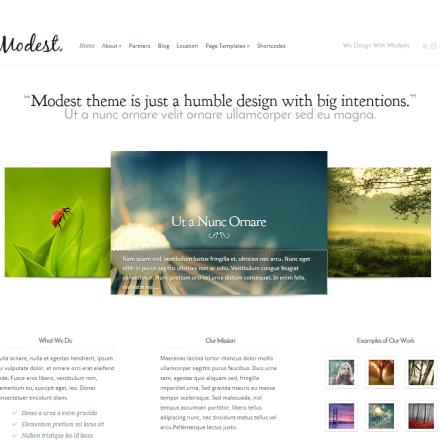 WordPress Šablona Modest