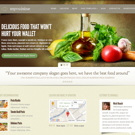 WordPress Šablona MyCuisine