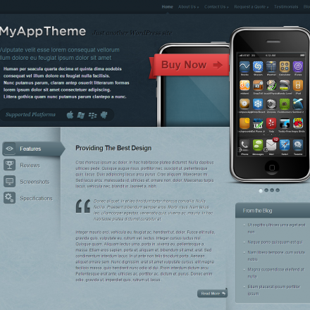 WordPress Šablona MyApp