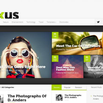 WordPress Šablona Nexus