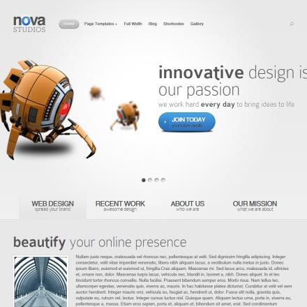 WordPress Šablona Nova