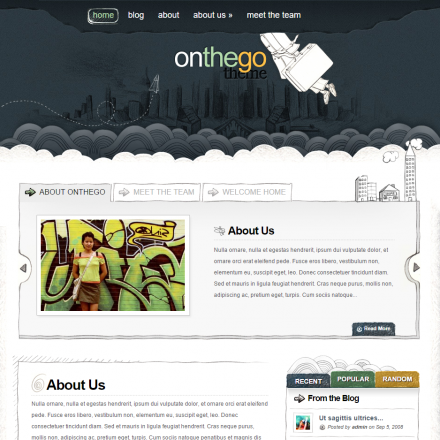 WordPress Šablona OnTheGo