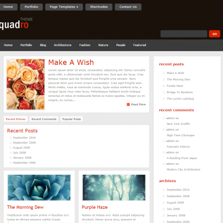 WordPress Šablona Quadro