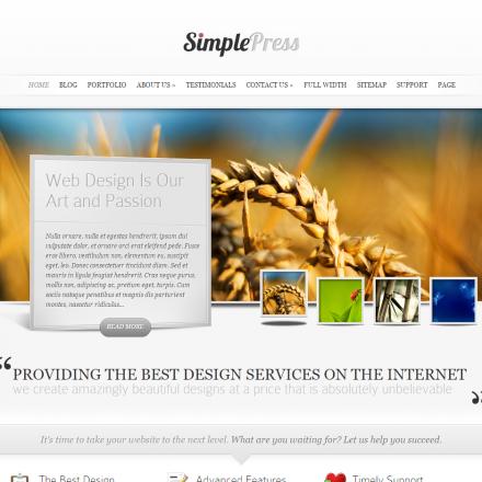 WordPress Šablona SimplePress