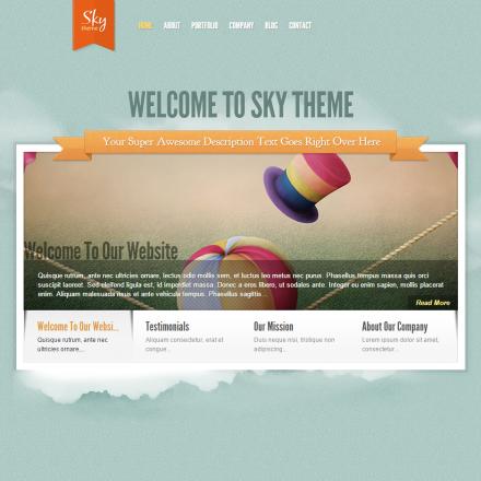 WordPress Šablona Sky