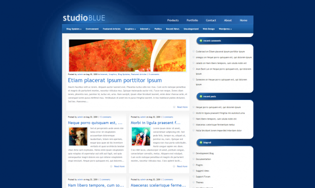 WordPress Šablona StudioBlue
