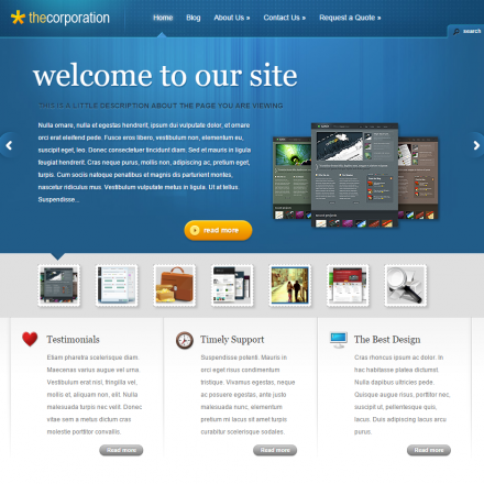 WordPress Šablona TheCorporation