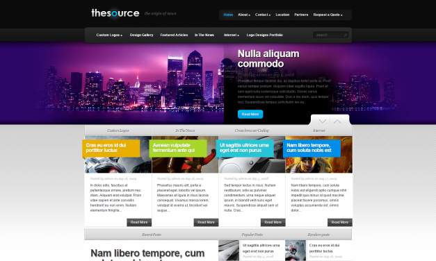 WordPress Šablona TheSource