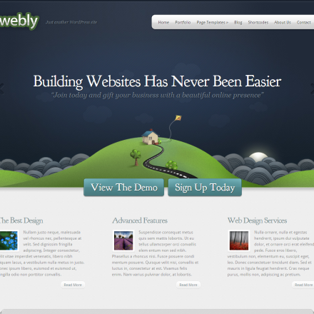 WordPress Šablona Webly