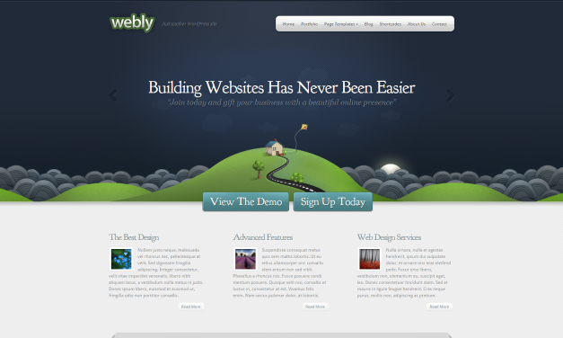 WordPress Šablona Webly