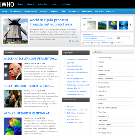 WordPress Šablona WhosWho