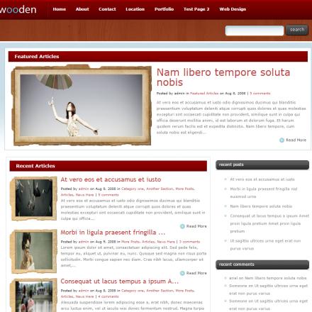 WordPress Šablona Wooden