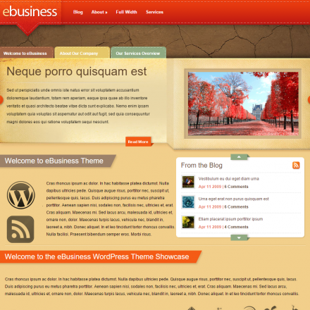 WordPress Šablona eBusiness