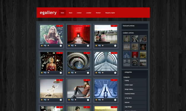 WordPress Šablona eGallery