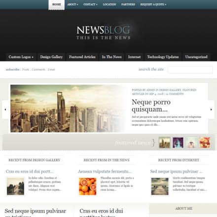 WordPress Šablona eNews