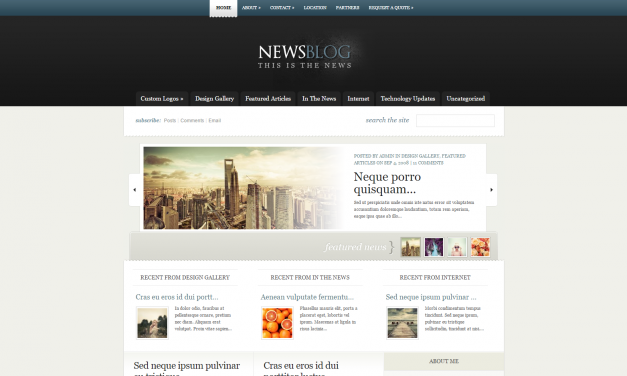 WordPress Šablona eNews