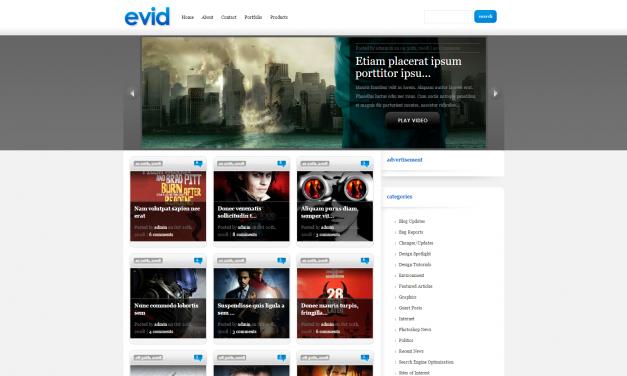 WordPress Šablona eVid