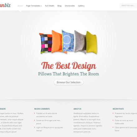 WordPress Šablona LeanBiz