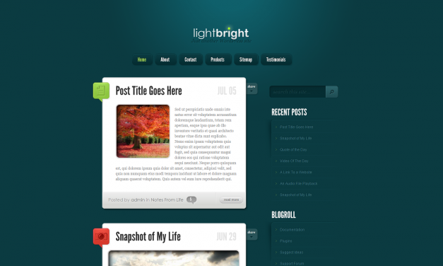 WordPress Šablona LightBright