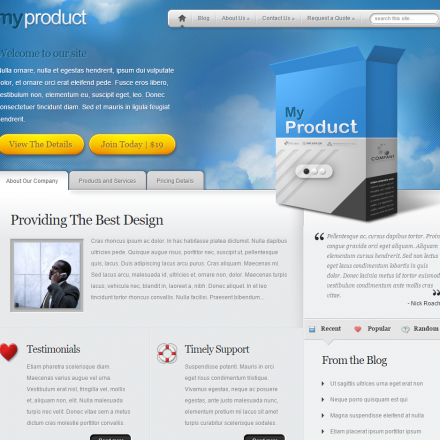 WordPress Šablona MyProduct