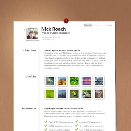 WordPress Šablona MyResume