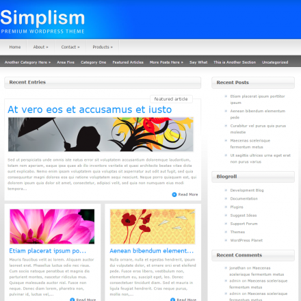 WordPress Šablona Simplism