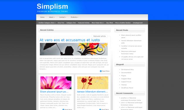 WordPress Šablona Simplism
