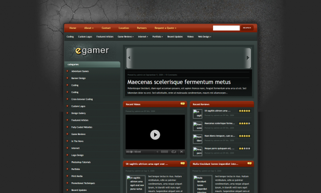 WordPress Šablona eGamer